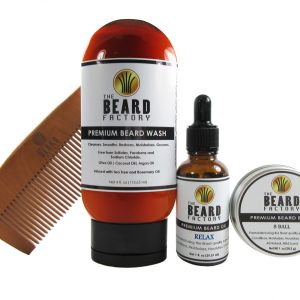 4 pack 4 oz wash oil balm comb